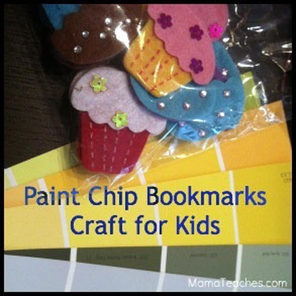 How to Make Paint Chip Bookmarks for Kids