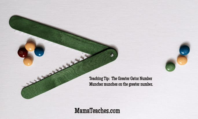 How to Make an Easy Greater Gator Homeschool Math Activity