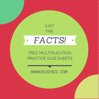 Just the Facts: Free Multiplication Practice Quiz Worksheets