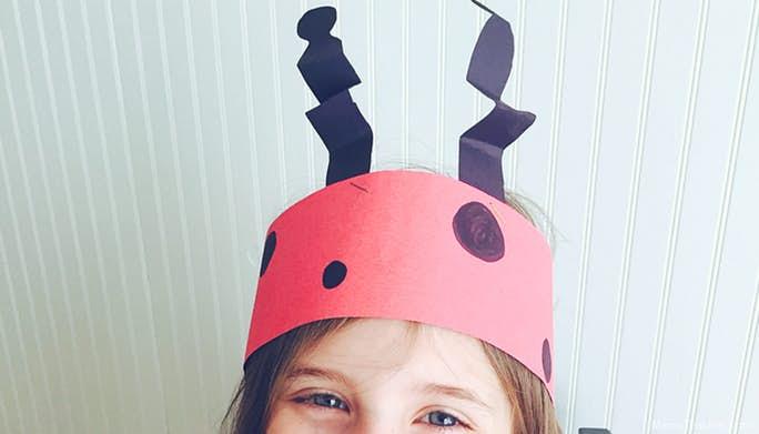 Ladybug Headband Kids Craft
