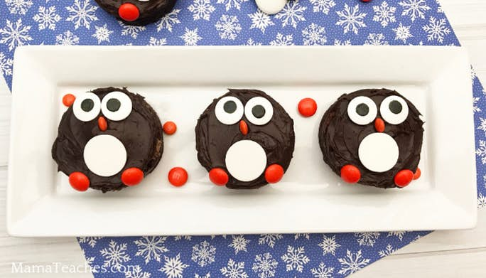 Make a Penguin Brownie Snack