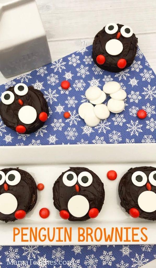 Penguin Brownie Snacks for Kids