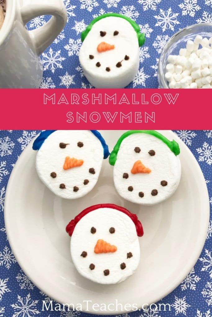 Marshmallow Snowmen Recipe for Kids