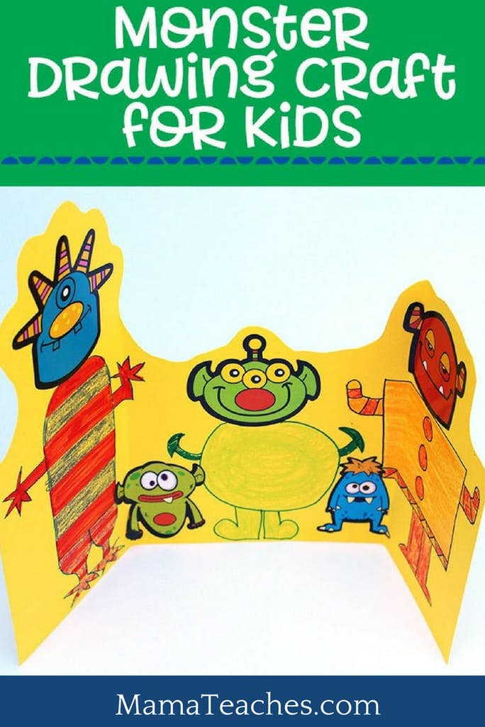 Monster Sticker Craft for Creative Writing