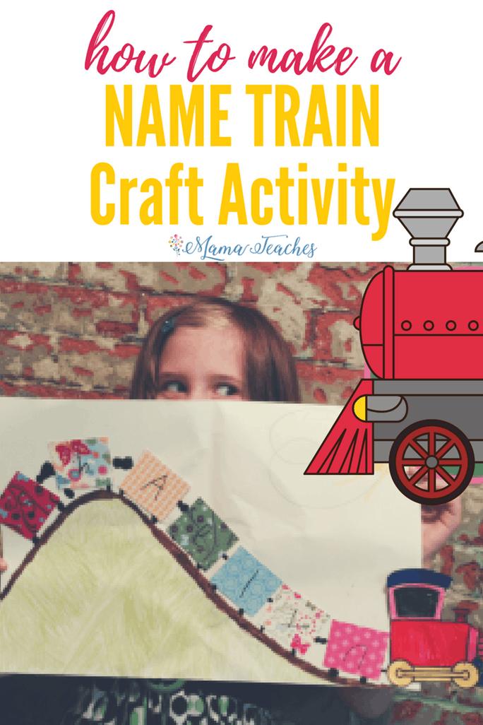 Name Train Craft Activity