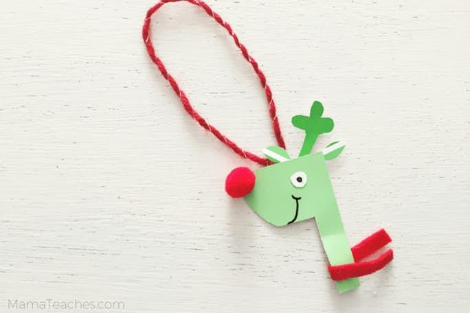 Paint Chip Reindeer Ornament