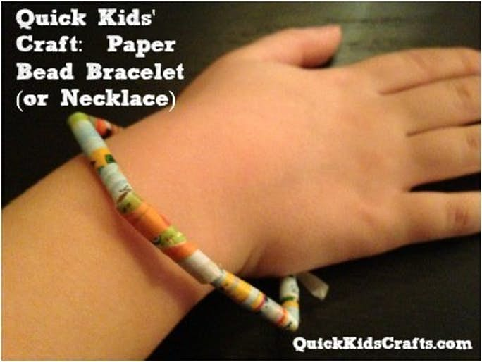 Paper Beads: Bracelets and Necklaces