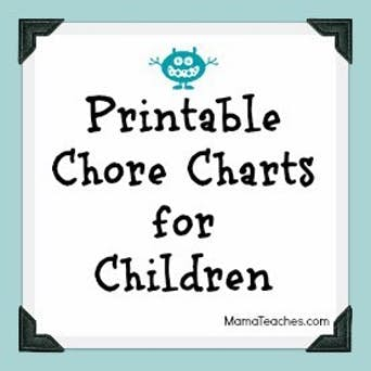 Printable Chore Charts for Older Kids