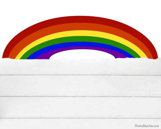 Printable St. Patrick's Day Rainbow Paper