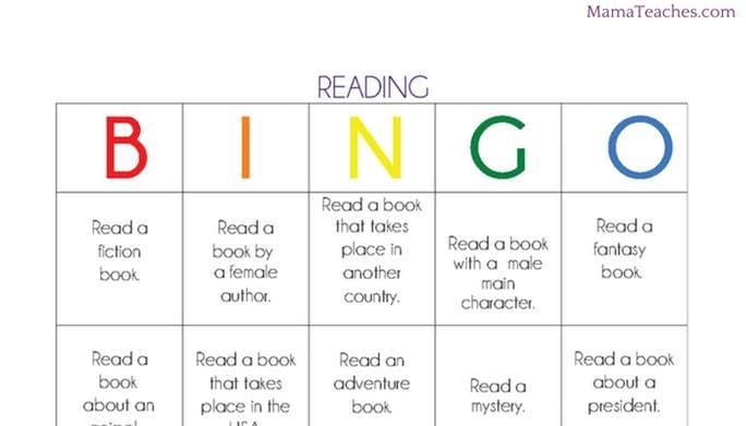 Reading Book BINGO: Printable Reading Game