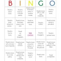 Reading Book Bingo Printable for Kids