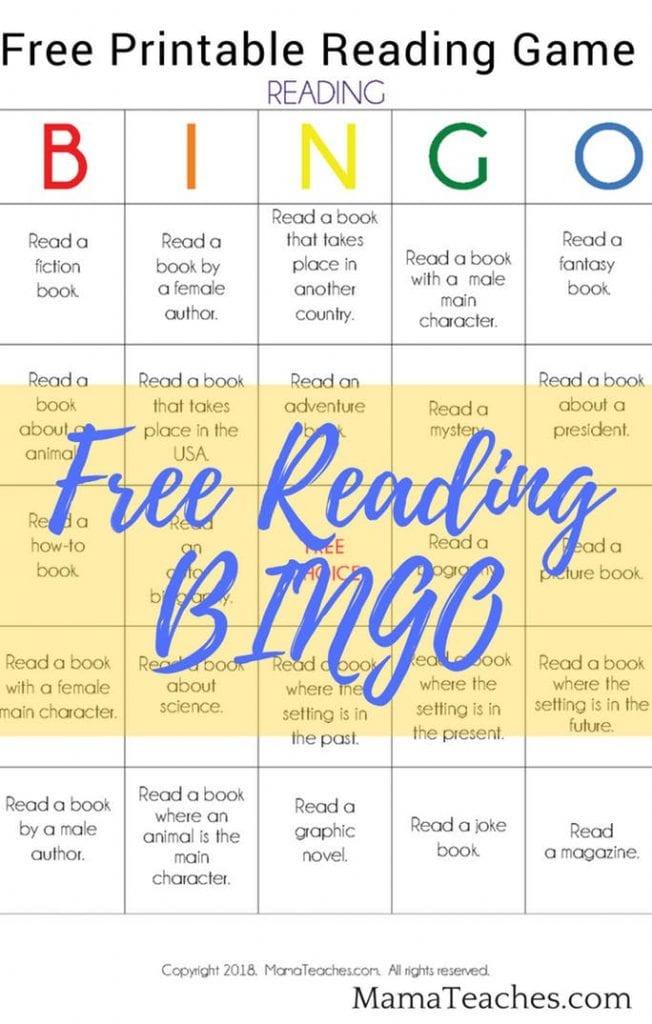 Reading Book BINGO