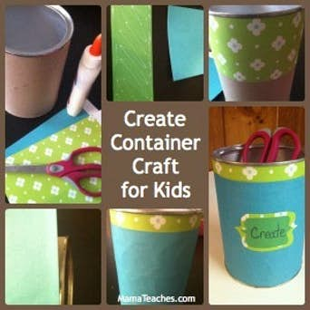Recycled Create Container Craft for Kids