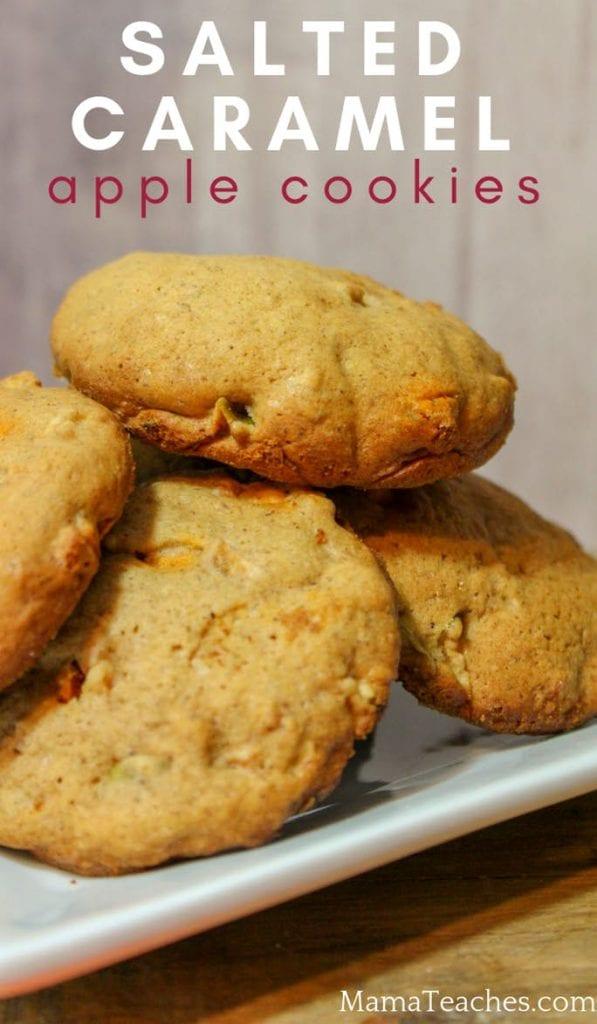 Salted caramel Apple Cookies