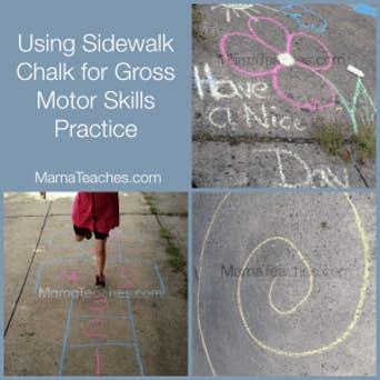 Sidewalk Chalk Activities for Gross Motor Skills Development