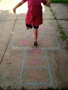 Sidewalk Chalk for Gross Motor Skills Practice