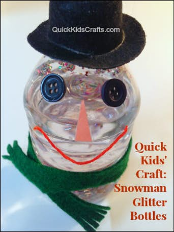 Snowman Glitter Bottles