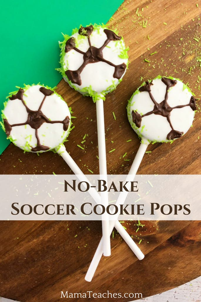 Soccer Cookie Pops