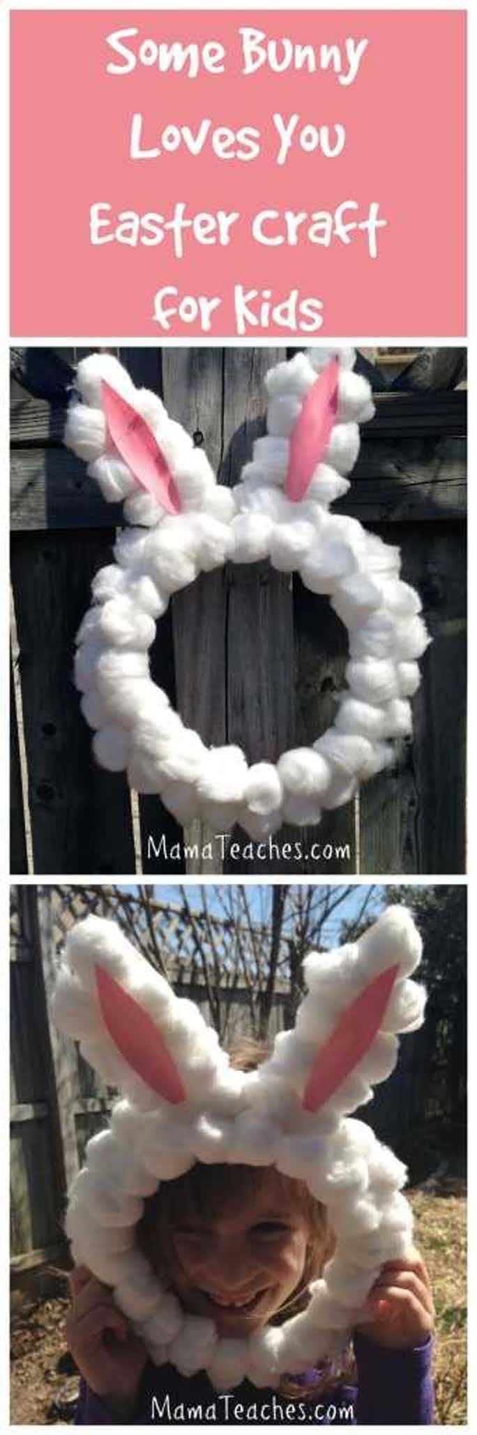 Some Bunny Loves You Easter Wreath/Mask Craft for Kids