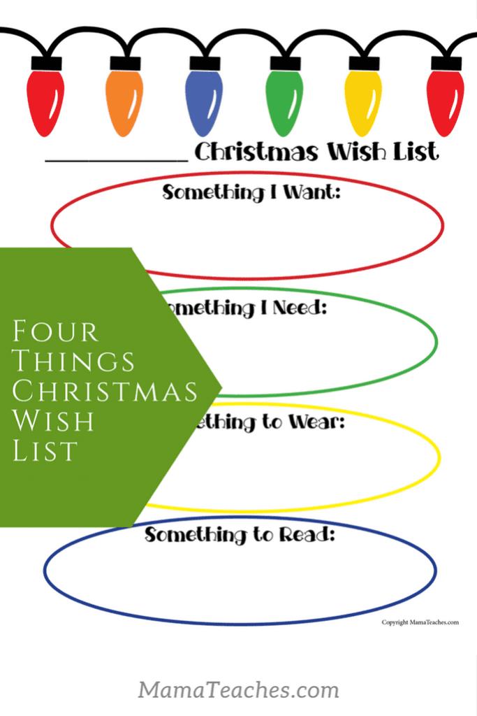 Four Things Christmas Wish List