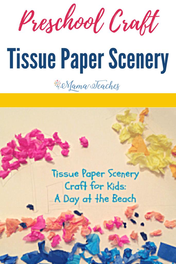 Tissue Paper Scenery Preschool Craft