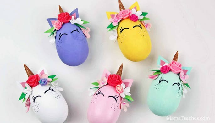 Unicorn Wooden Egg Craft
