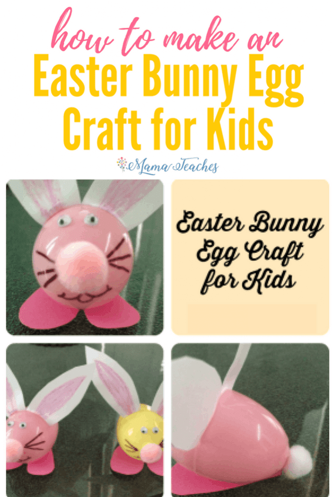 Easter Bunny Egg Craft for Kids