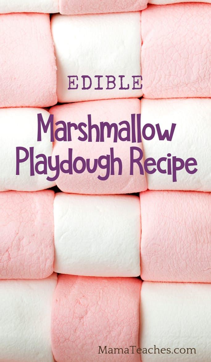 Easy Marshmallow Playdough Recipe