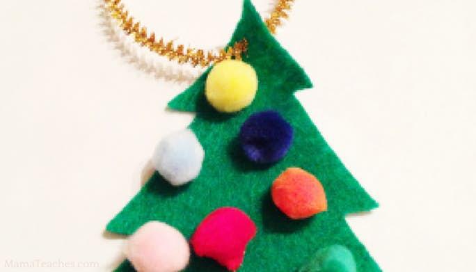 Felt Christmas Tree Ornament for Kids
