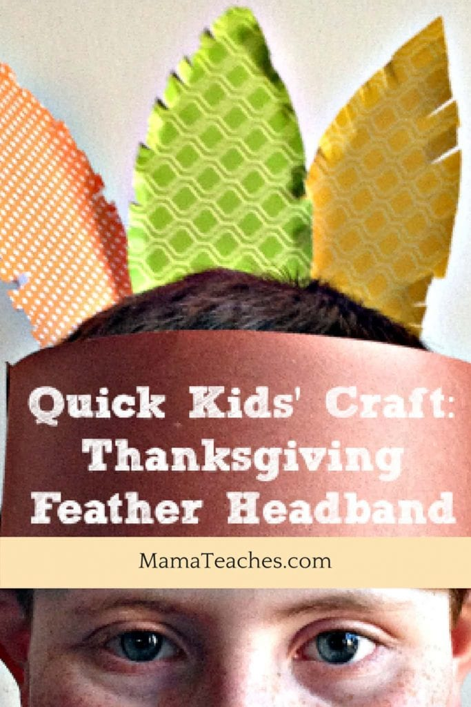 Thanksgiving Feather Craft for Kids