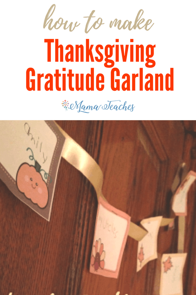 Thanksgiving Gratitude Garland Craft for Kids