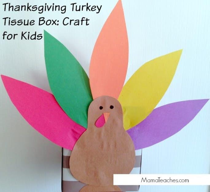 Turkey Tissue Box Thanksgiving Craft