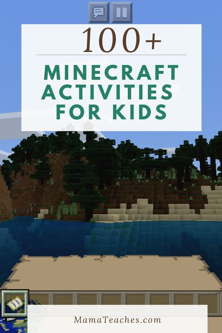 100+ Minecraft Activities, Ideas, Crafts, and Printables for Kids - MamaTeaches.com #Minecraft