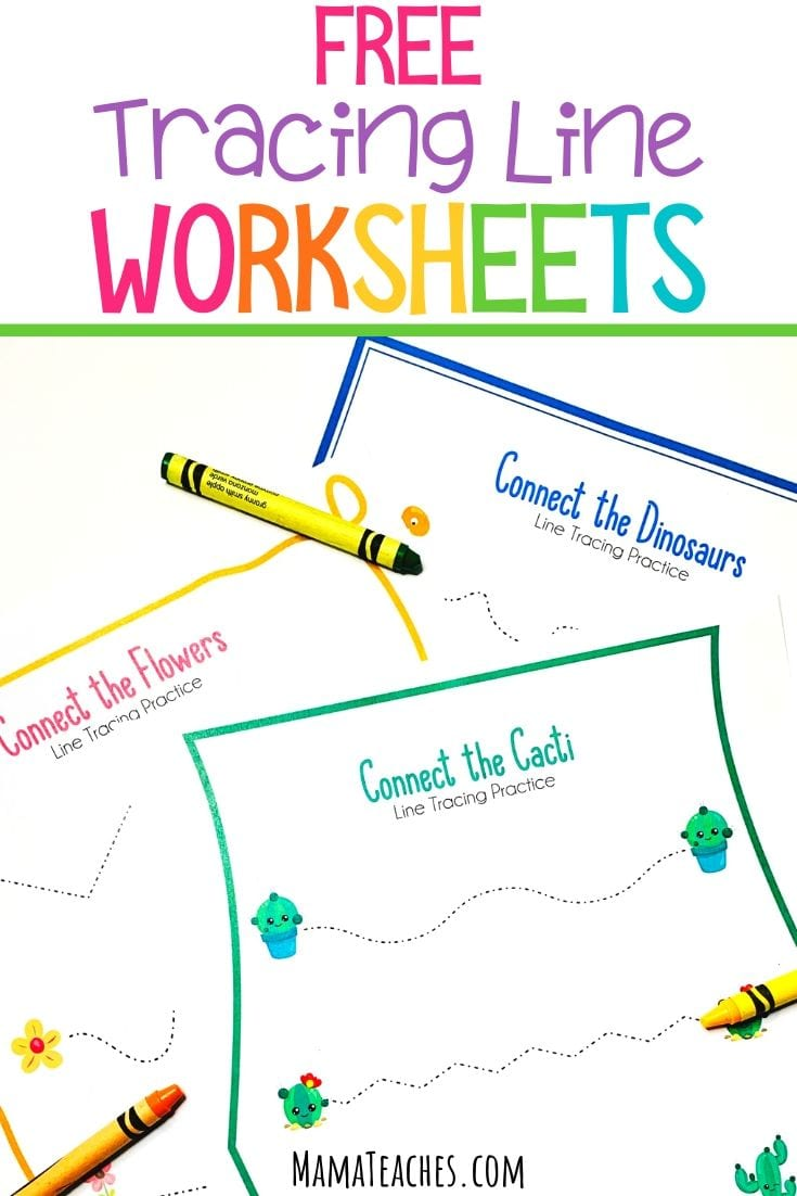 Free Tracing Line Worksheets - MamaTeaches.com
