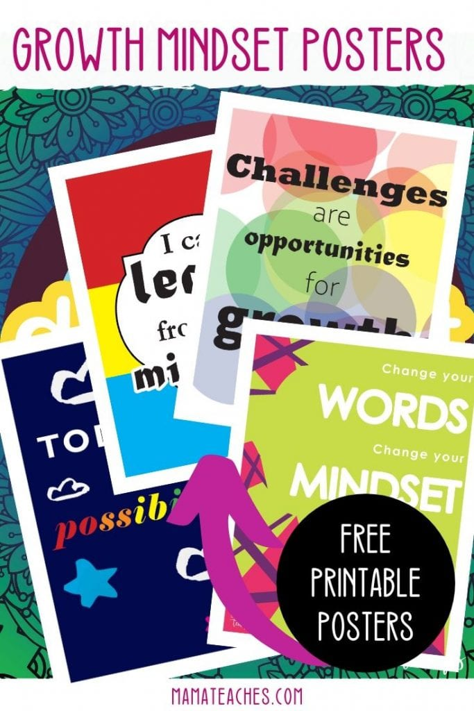 Growth Mindset Posters - Free Printable Posters - MamaTeaches.com