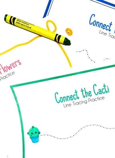 Preschool Line Tracing Worksheets