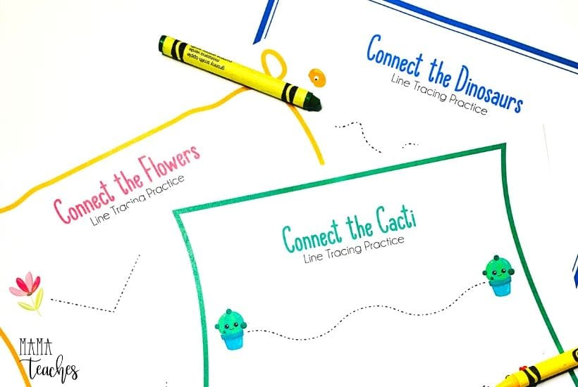 Preschool Line Tracing Worksheets - Mama Teaches