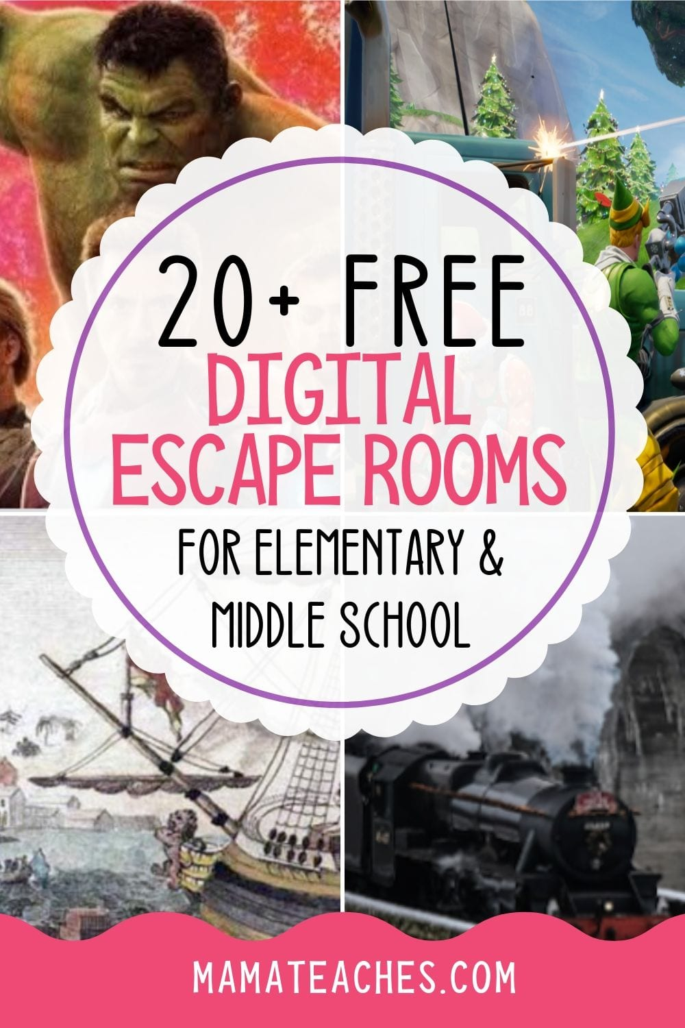 20+ Free Digital Escape Rooms for Elementary and Middle School - MamaTeaches.com