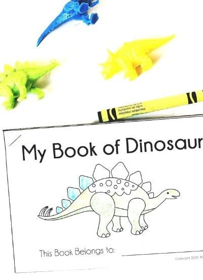 Preschool Early Reader - My Book of Dinosaurs for Beginning Readers - Get it free at MamaTeaches.com