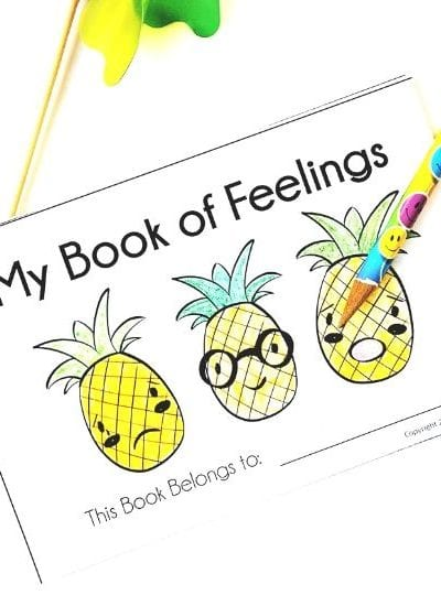 Preschool Early Reader Book - My Book of Feelings, a Printable Preschool Early Reader Book to Help Kids Learn to Read and Discuss Big Emotions and Feelings - Free at MamaTeaches.com
