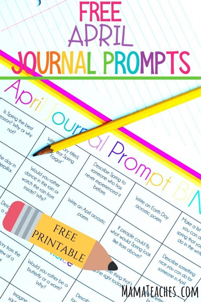 Free April Writing Prompts for Kids