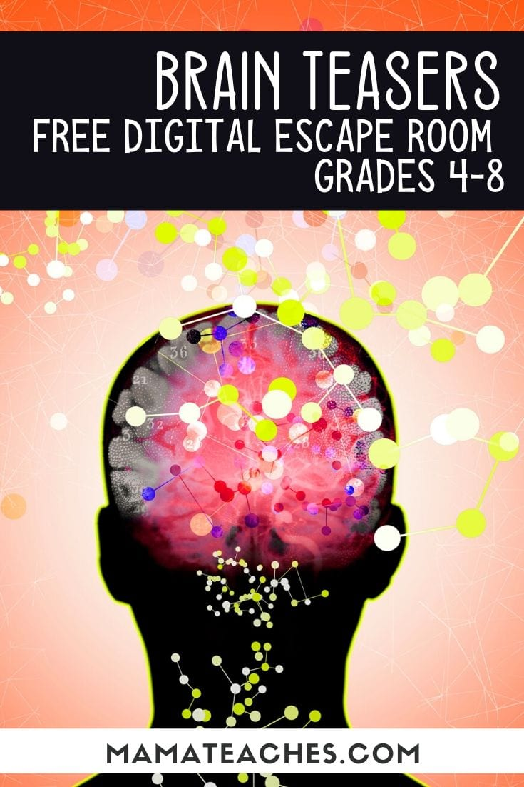 Free Digital Escape Room for Grades 4-8 - Brain Teasers - MamaTeaches