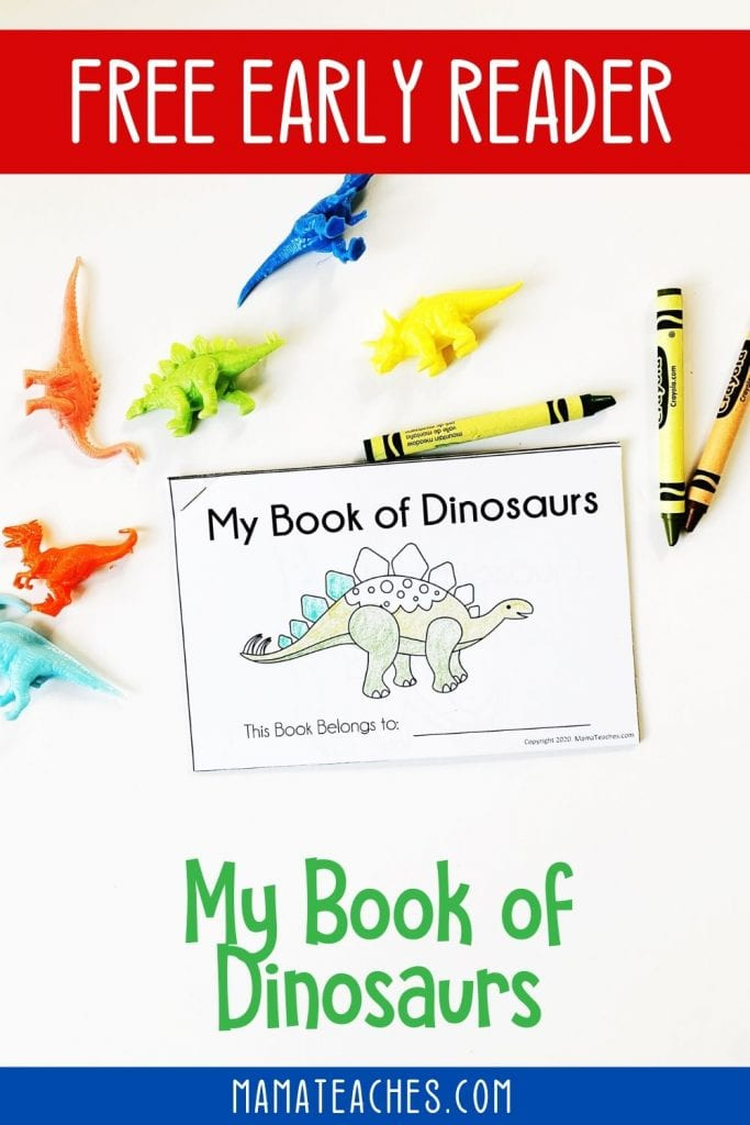 Free Preschool Early Reader About Dinosaurs