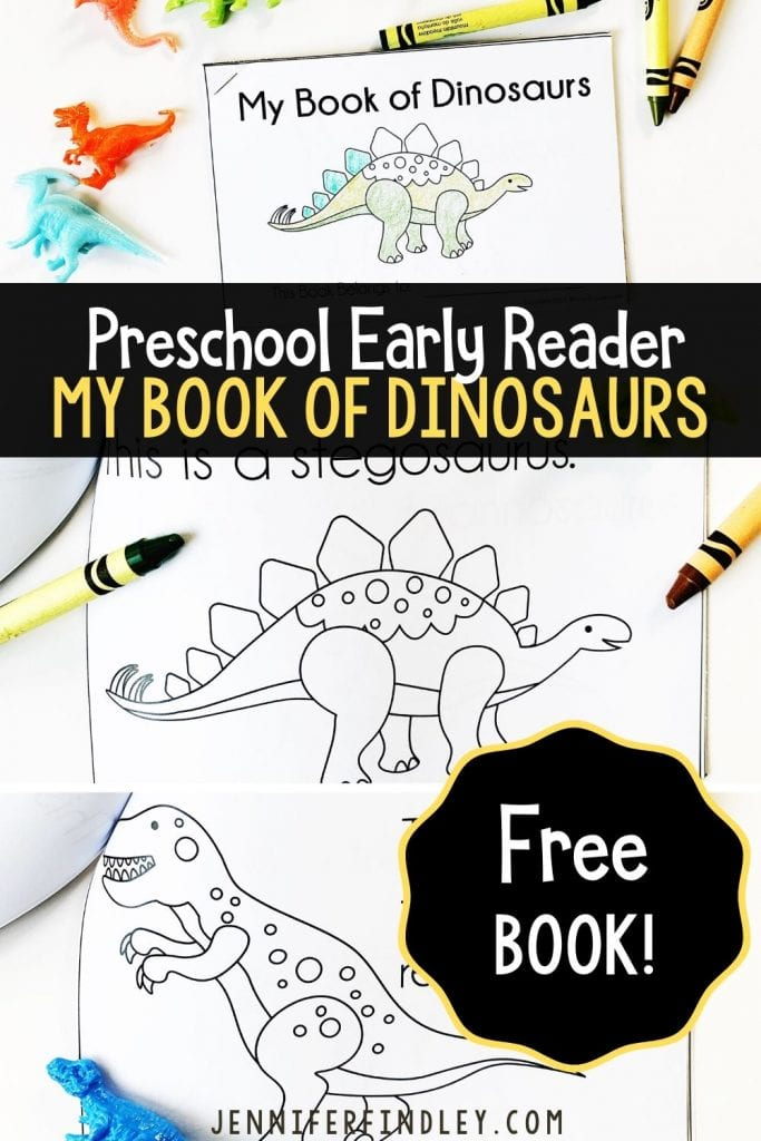 Free Preschool Early Reader of Dinosaurs
