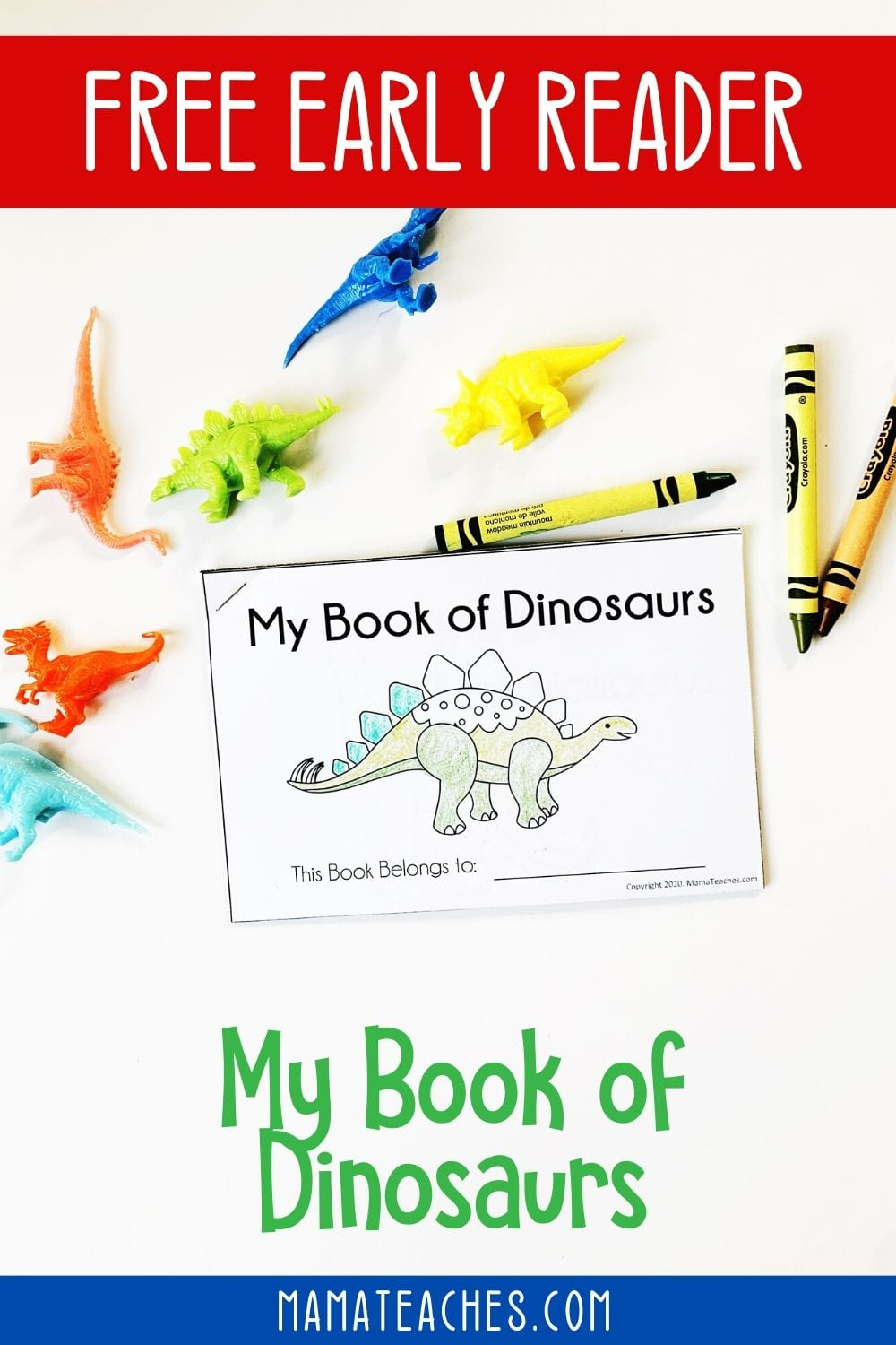 Free Preschool Early Reader - My Book of Dinosaurs - A Book of Dinosaurs for Preschoolers