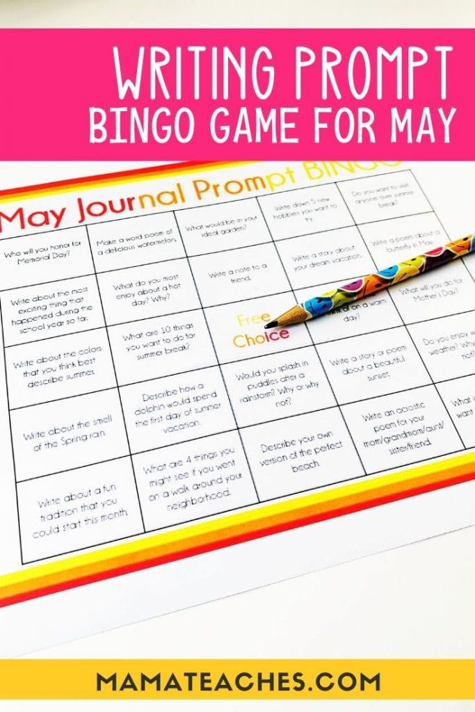 May Journal Prompt BINGO