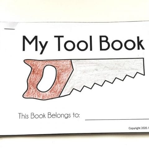 My Tool Book_A Preschool Early Reader - Free Printable Book of Tools for Preschoolers - MamaTeaches.com