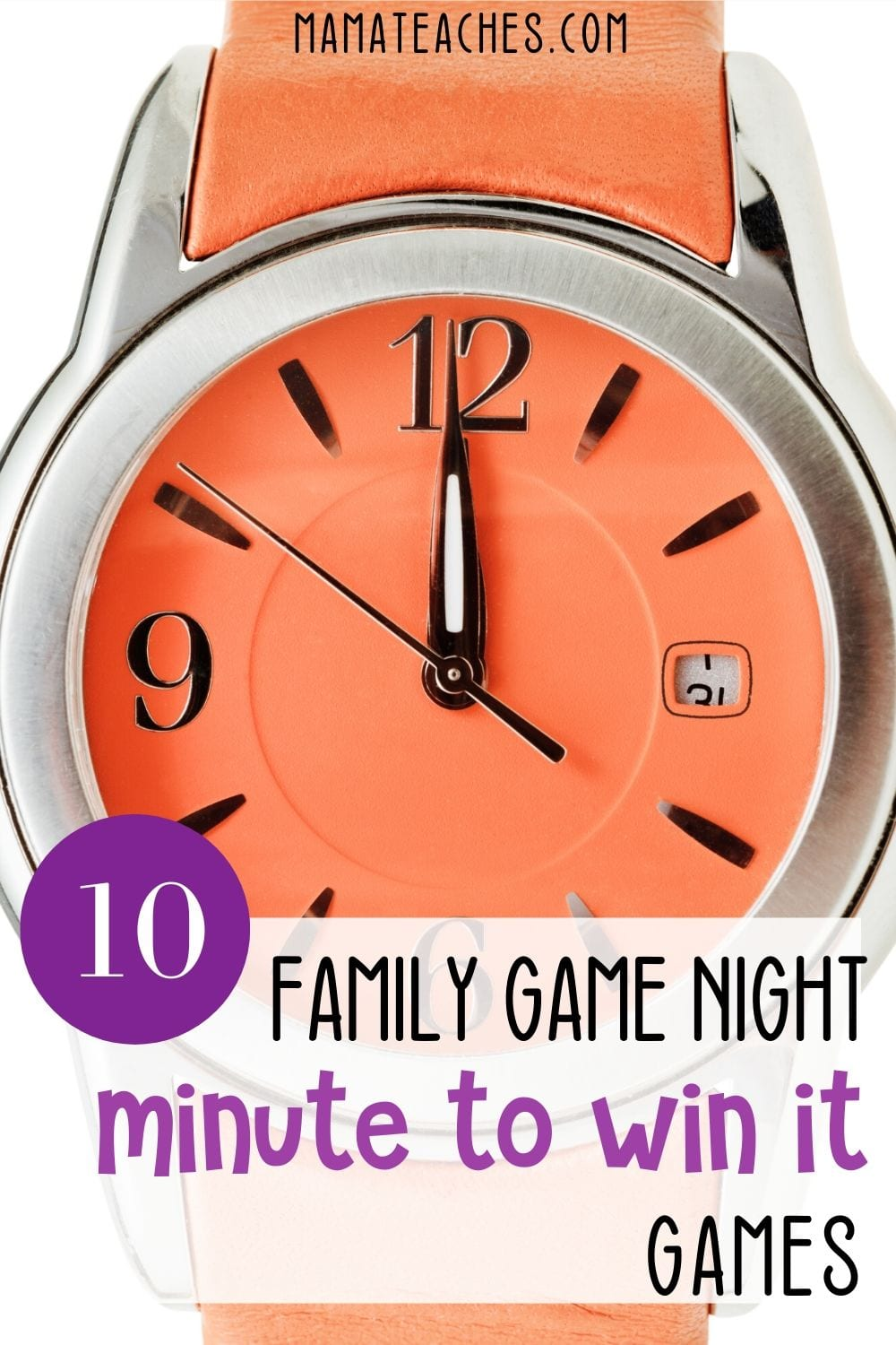 10 Family Game Night Minute to Win It Games - MamaTeaches.com