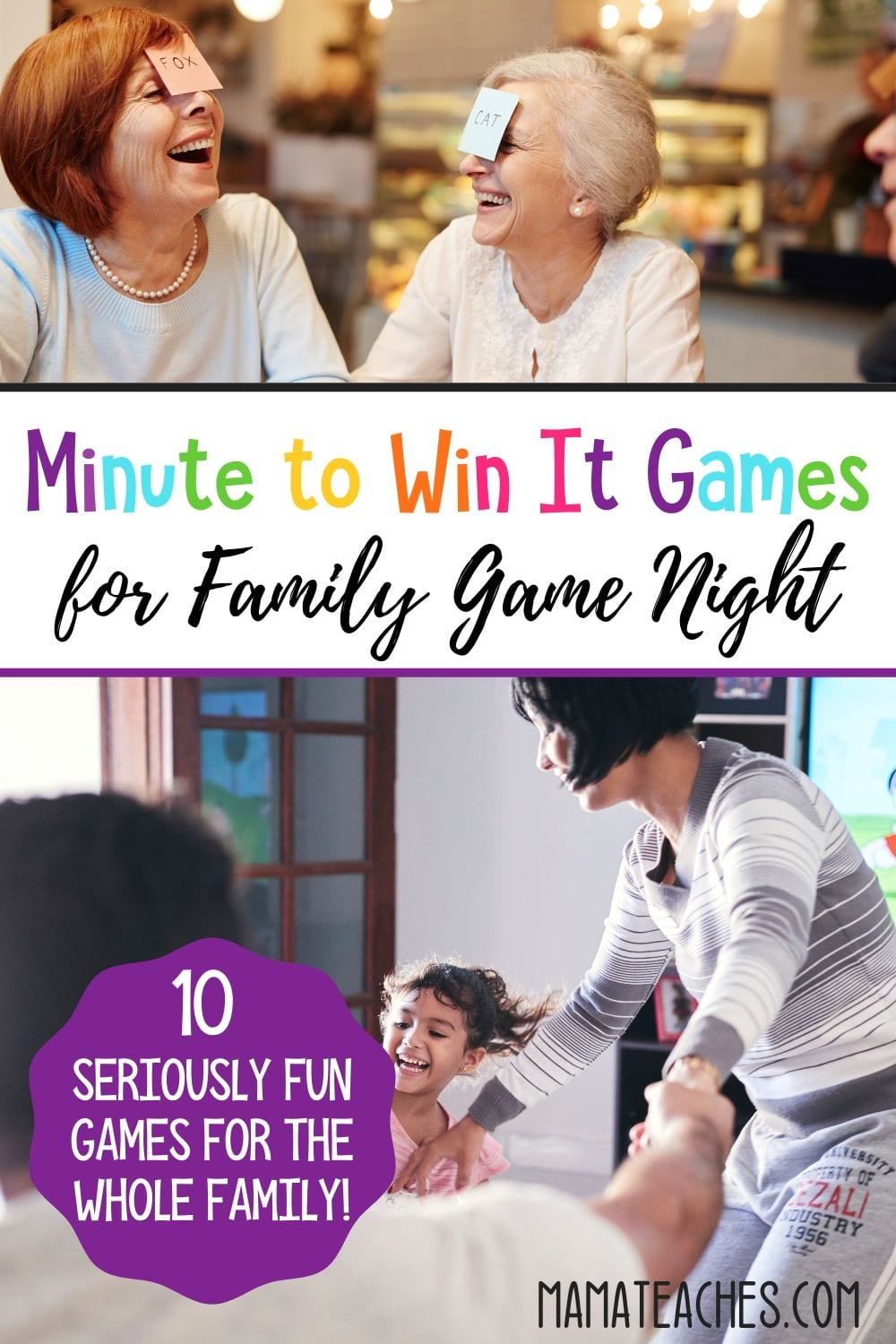 10 Minute to Win It Games for Family Game Night - MamaTeaches.com