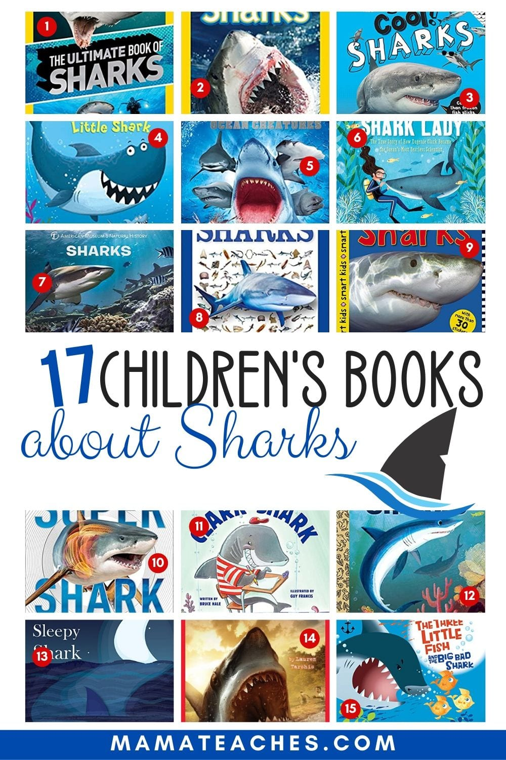 17 Children's Books About Sharks - What are you reading for shark week? - MamaTeaches.com